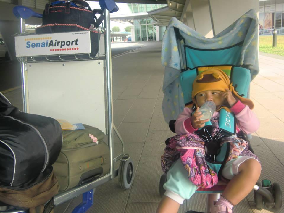 Arrived at senai airport