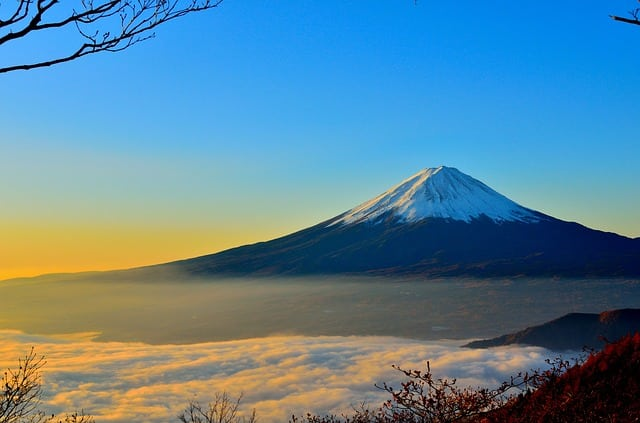 Mt. Fuji in Japan, A Beautiful Painting of The Creator of Nature