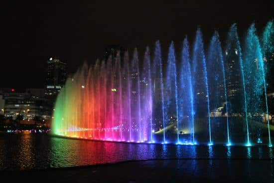 Lake Symphony Water Fountain Light and Sound Show at Suria KLCC